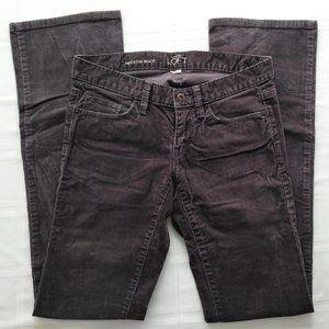 Ann Taylor LOFT Modern Bootcut Corduroy Jeans Grey